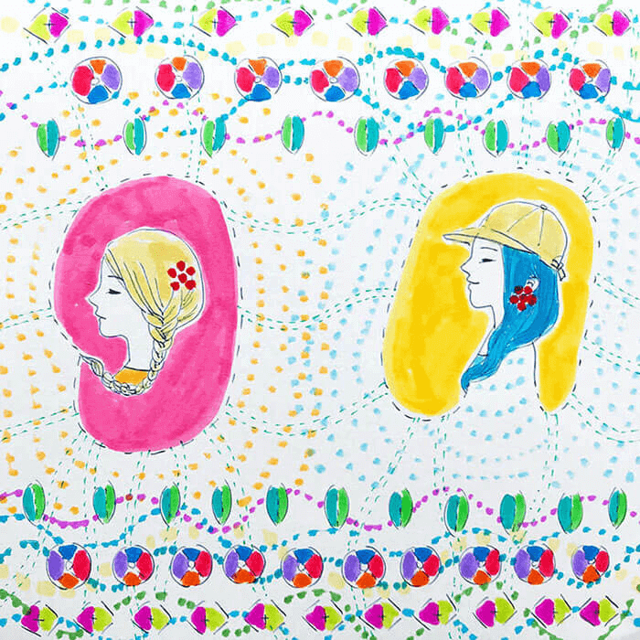 #119_Colorful girls4_182x182mm