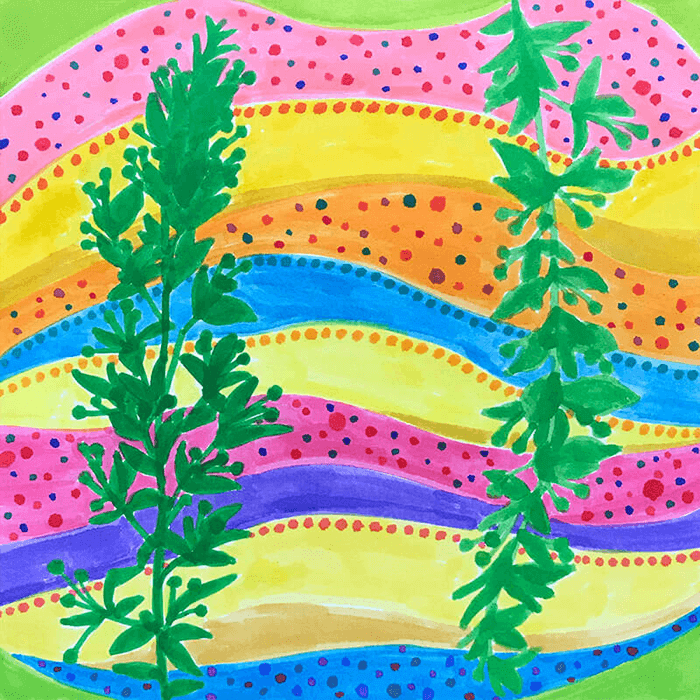 #80_Individuality of plant_182x182mm